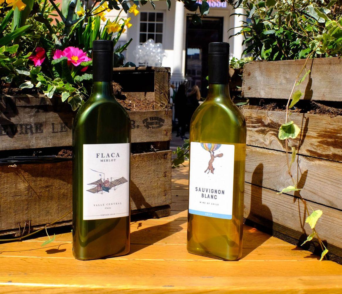 garrafa de vinho plana 4