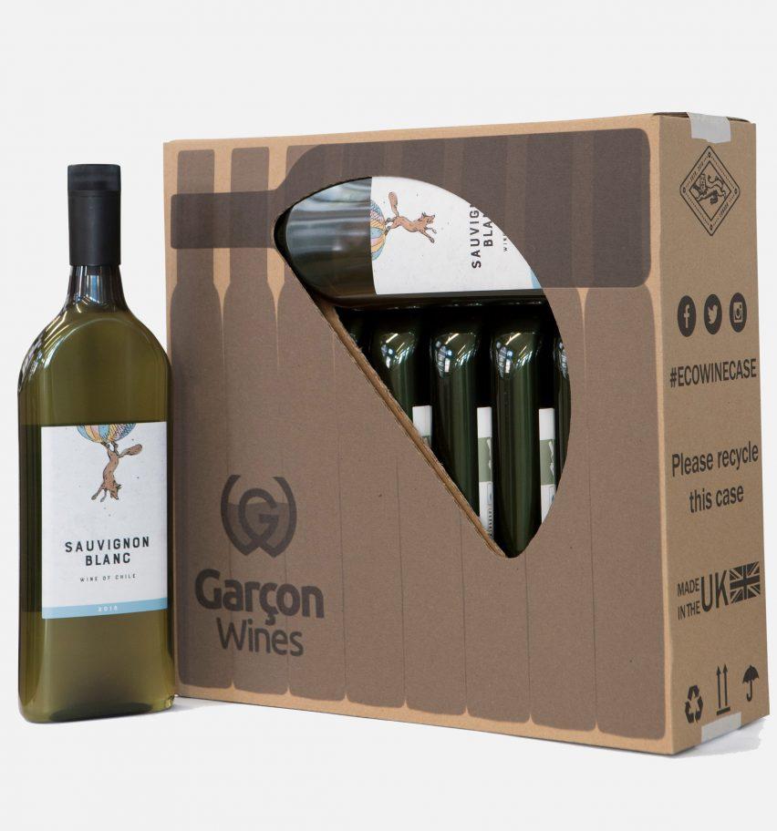 garrafa de vinho plana 6