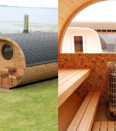 Conheça os incríveis kits DIY de sauna de jardim