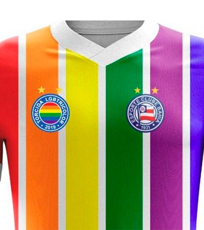 Bahia apoia e torcida lança camisa LGBT para o tricolor