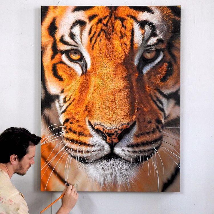 pinturas realistas animais 1
