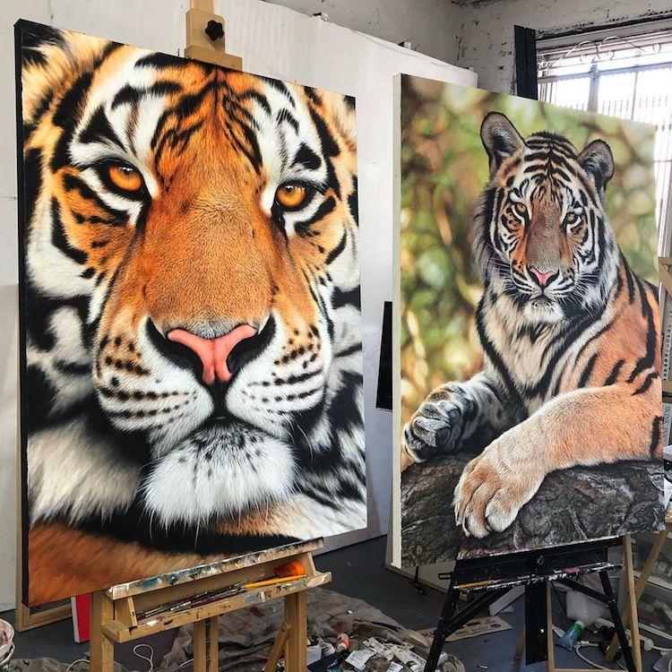 pinturas realistas animais 2