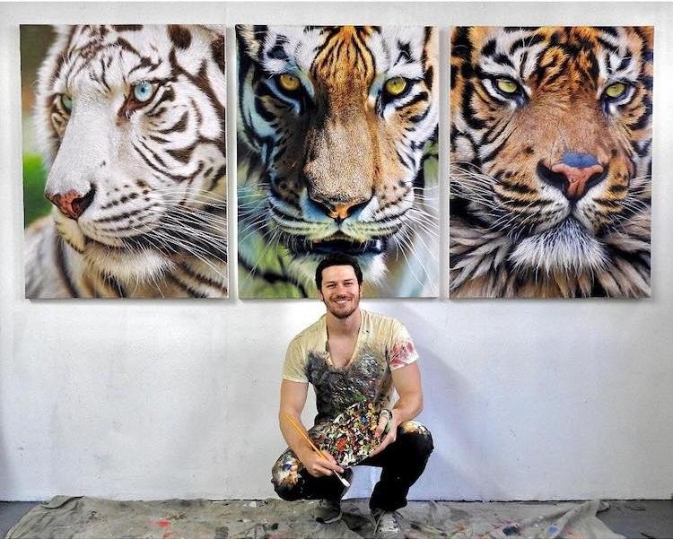 pinturas realistas animais 3