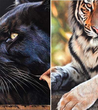 Pinturas hiperrealistas capturam a beleza da vida selvagem que precisamos proteger