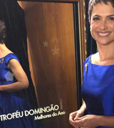 Sandra Annenberg usa vestido desenhado por estilista autista em premiação