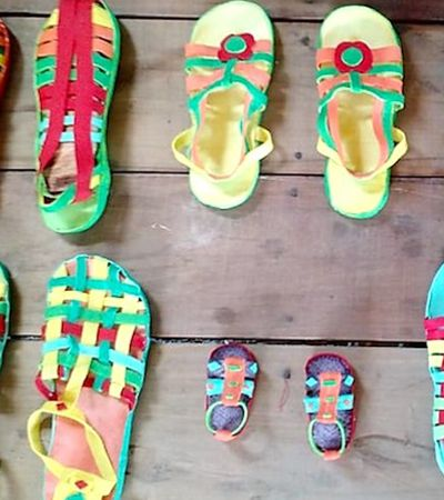 Comunidade indígena do Acre produz lindos calçados de borracha sustentável