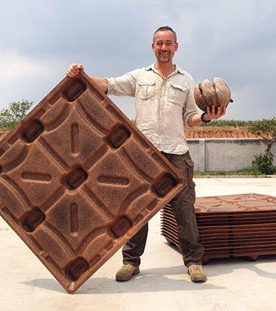 Os paletes de coco que podem salvar 200 milhões de árvores