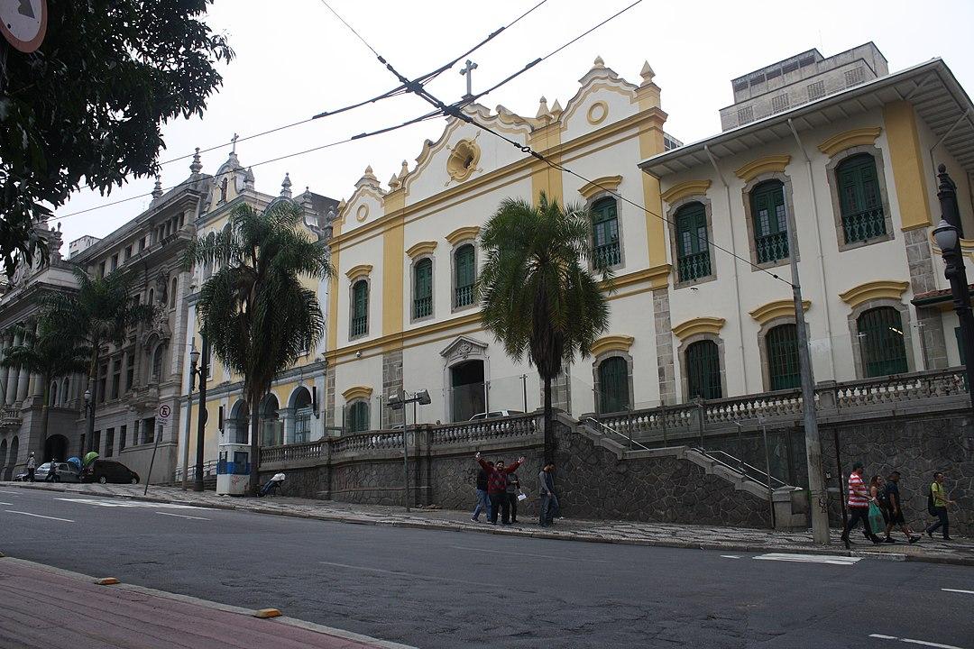 Fachada da Igreja das Chagas do Seráfico Pai São Francisco, em São Paulo (SP), Brasil.