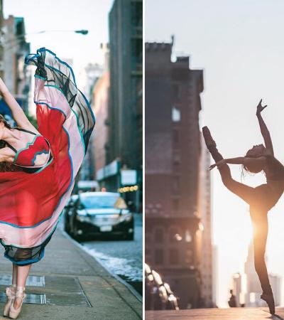 Ensaio une delicadeza do balé com alma cosmopolita de NY e o resultado é lindo