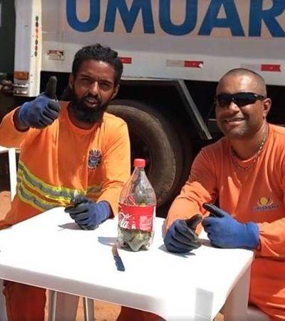 Coletores de lixo viralizam em tutorial de descarte de vidro; veja vídeo