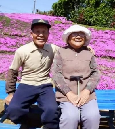 Ele passou 2 anos para criar um jardim florido e alegrar a esposa cega
