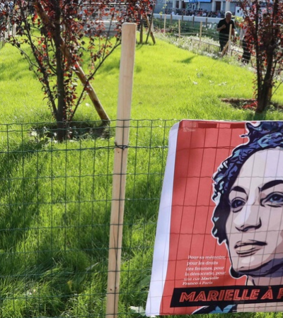 Paris inaugura jardim que homenageia Marielle Franco
