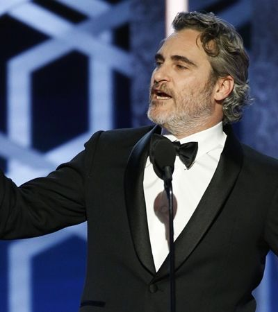 Joaquin Phoenix irá em temporada de prêmios com o mesmo 'smoking sustentável'