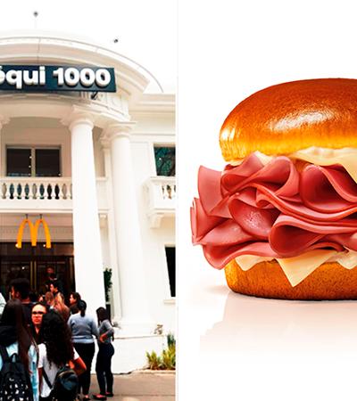 McDonald's celebra aniversário de SP com sanduíche de mortadela