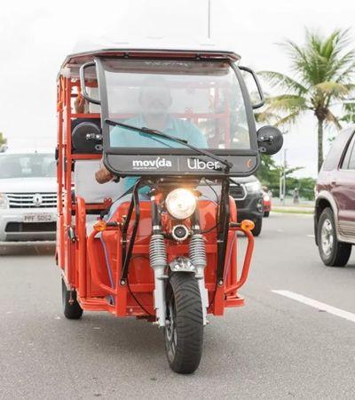 Uber inaugura, no Brasil, viagens de tuk-tuk como alternativa ao carro