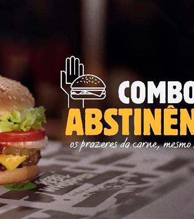 Burger King lança 'combo da abstinência' e brinca com proposta de suspensão do sexo