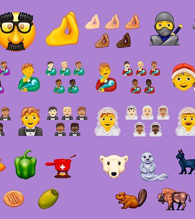 117 novos emojis inclusivos que estarão disponíveis no segundo semestre de 2020