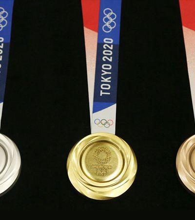 Tóquio apresenta medalhas olímpicas feitas com material reciclado