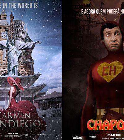 'Chapolin' e Carmen 'San Diego': como seriam os pôsteres para o cinema das séries de TV dos anos 80 e 90?