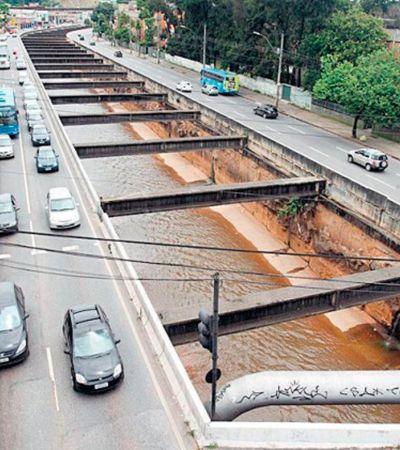 """Destruída por chuvas, no passado BH """"escondeu"""" 25% de seus córregos urbanos"""
