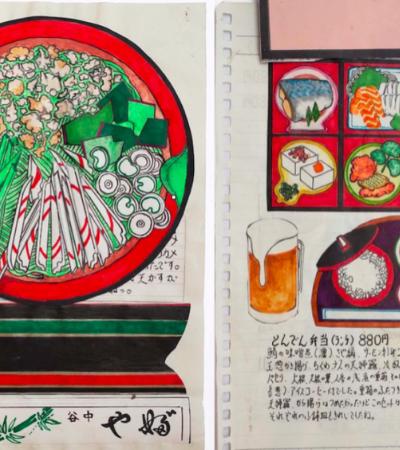 Por mais de 30 anos este chef japonês desenhou tudo que ele comeu