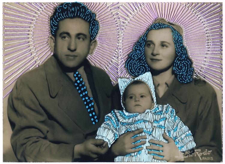 fotografias antigas bordadas 2