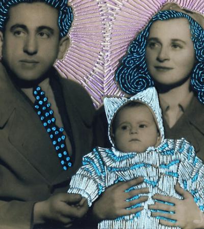 Artista dá vida e cor a antigas fotografias usando bordados coloridos
