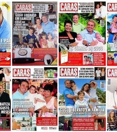 Capas de revista mostram que Gugu e Rose levavam vida de 'família comum'