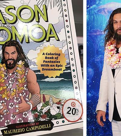 Jason Momoa virou livro de colorir contra o estresse e isso é maravilhoso