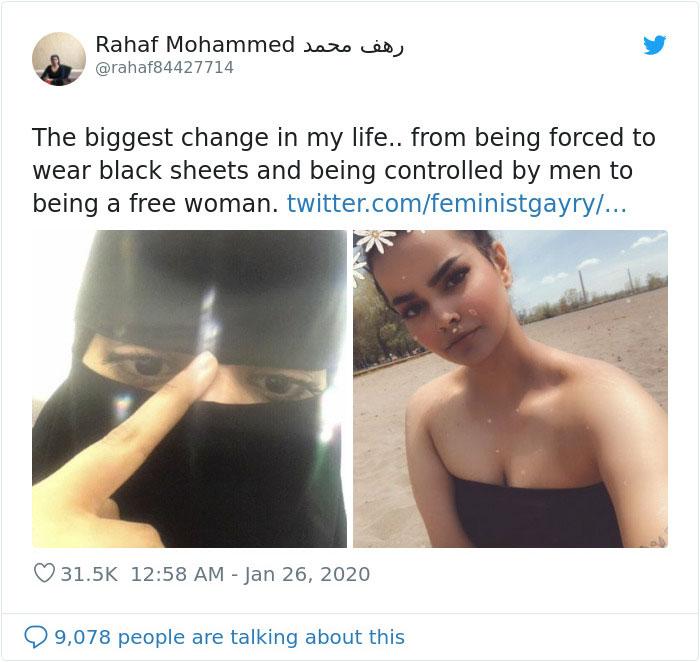 jovem árabe antes e depois 1
