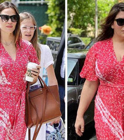 Mulher se veste como celebridades para mostrar que você não precisa ser magra para ser feliz