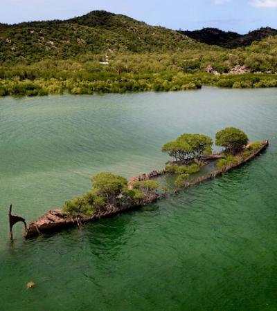 Navio naufragado há mais de 100 anos é confiscado pela natureza