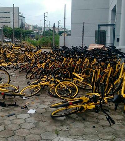 Vídeo polêmico mostra Yellow destruindo bicicletas em Florianópolis
