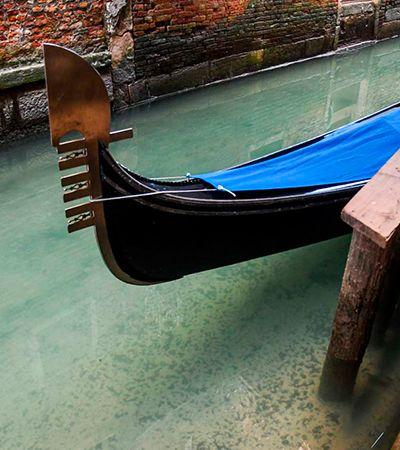 Canais de Veneza estão com águas cristalinas por ausência de turistas
