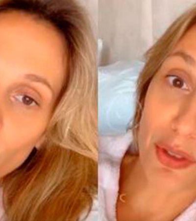 Coronavírus: Luisa Mell diz que melhorou, mas pede que rezem pelo marido internado