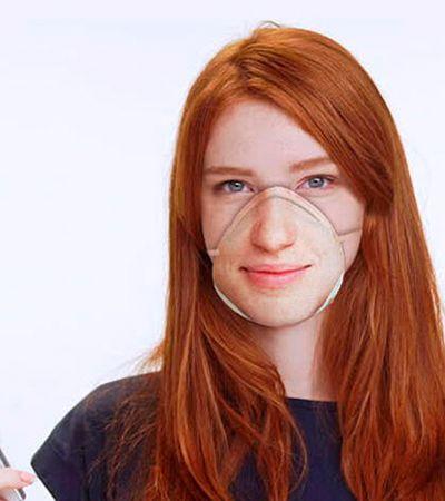 Artista desenvolve máscaras cirúrgicas compatíveis com reconhecimento facial