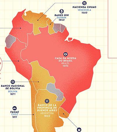 Mapas em cores apontam as mais antigas empresas em atividade do mundo