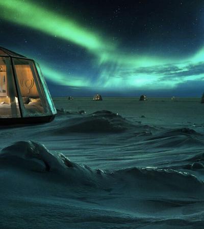 Hotel mais ao norte do mundo oferece experiência luxuosa em iglus
