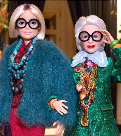 Iris Apfel se torna pessoa mais velha do mundo a ganhar uma Barbie em sua homenagem