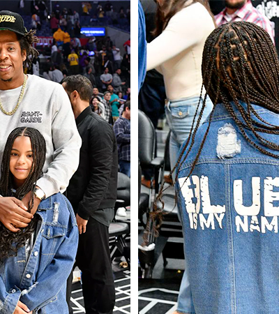 Blue Ivy, filha de Beyoncé e Jay-Z, aparece cheia de estilo em jogo da NBA