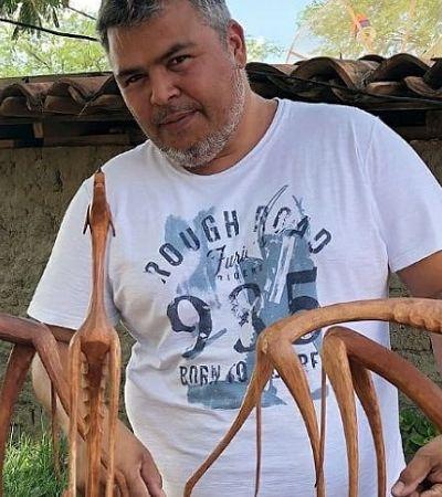 As esculturas delicadas de Marcos Sertânia, que transforma a natureza do sertão em arte
