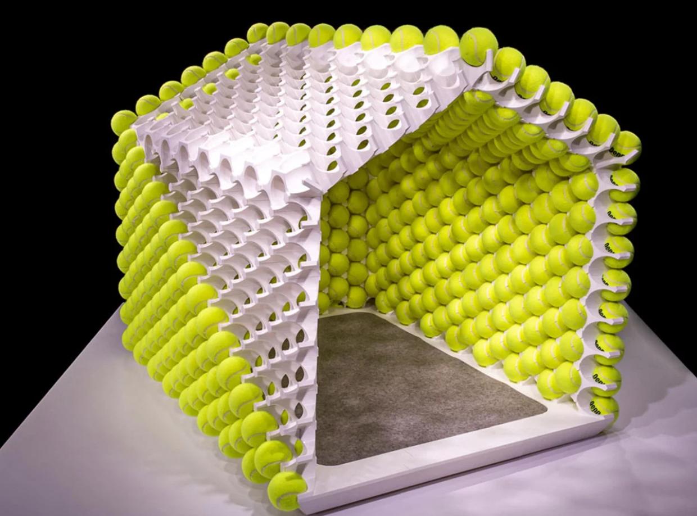 casa de cachorro bola de tênis 3