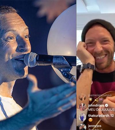 Chris Martin faz show ao vivo de casa pelo Instagram e transmite paz contra o coronavírus