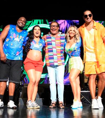 Com Carla Perez e Jacaré, É O Tchan se reúne e dança junto em celebração de Carnaval
