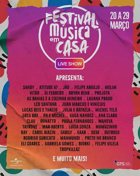 festival música instagram coronavírus 1
