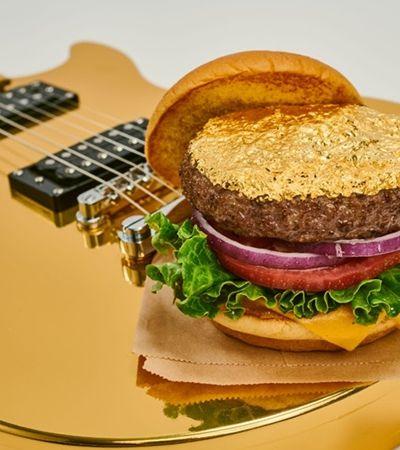 Hard Rock Cafe apresenta hambúrguer folheado a ouro em mudança inédita em 50 anos