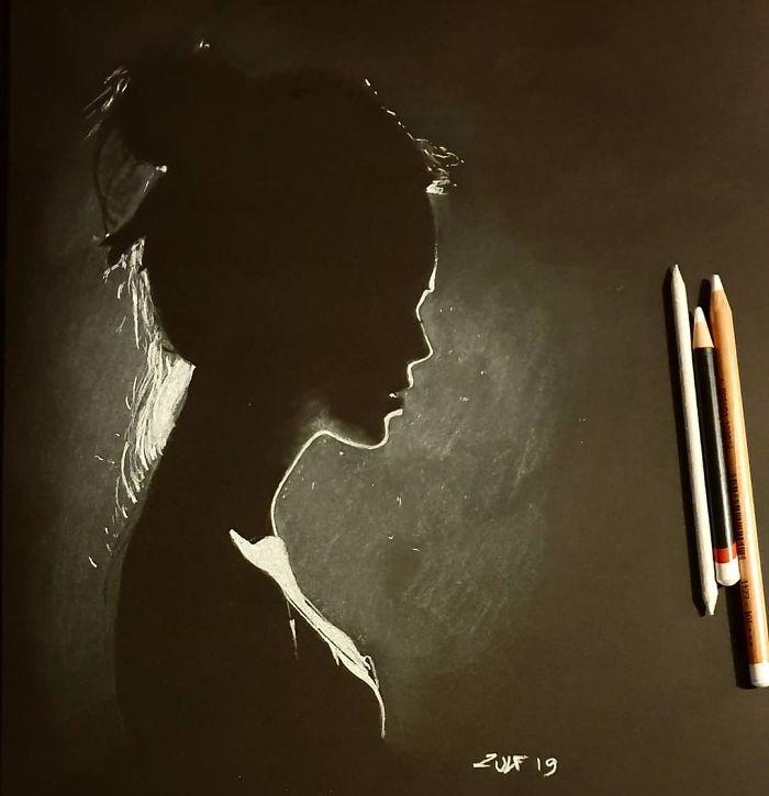 ilustrações mulheres carvão 2