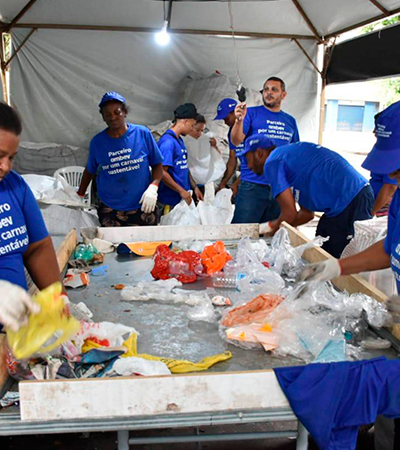 Lixo do Carnaval será reciclado e transformado em lixeiras públicas