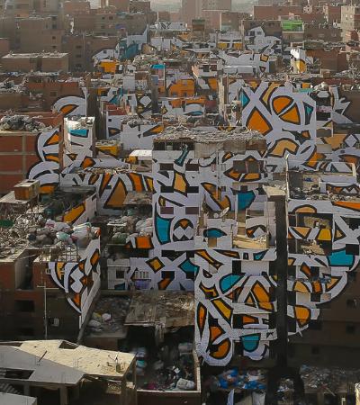 Como este artista criou um mural gigante nas ruas do Cairo sem que o governo notasse