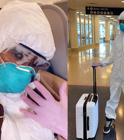 Naomi Campbell está pronta para enfrentar o coronavírus e todos os germes do mundo
